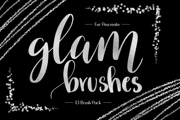 Foil Glitter Procreate Brushes