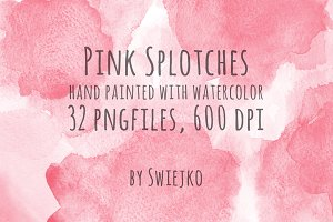 Pink watercolor splotches