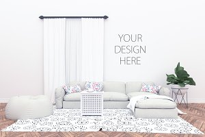Blank wall mockup - interior mock up