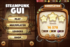 Steampunk GUI for Mobile Game