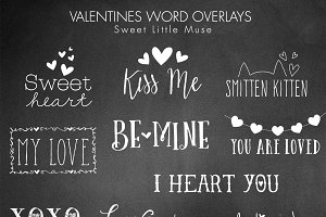 Valentines Word Overlays