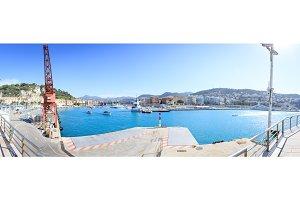 Panoramic Shot Of Nice Harbor