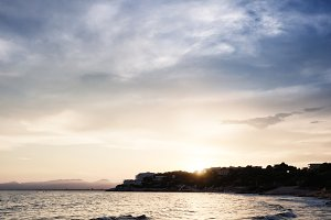 Salou Sunset Beach, Catalonia, Spain