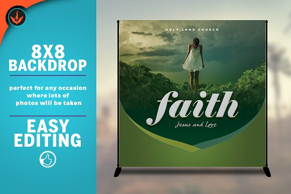 Faith 8x8 Event Backdrop Template
