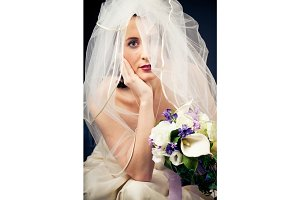 Studio Shot of a Beautiful Bride