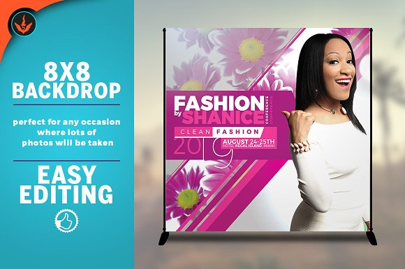 Fashion Conference 8x8 Backdrop