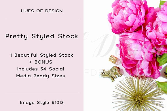 Flowers Gold Decor Styled Stock 1013
