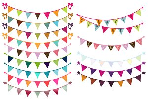 Bunting Vectors and Clipart