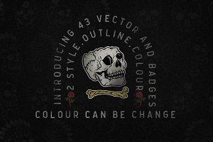 43 Vector skull