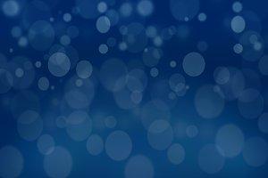 A blue tone bokeh background