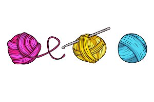 Yarn balls in vector