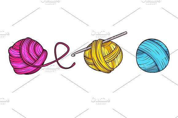 Yarn balls in vector