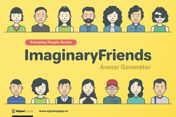 ImaginaryFriends Avatar Generator in Illustrations
