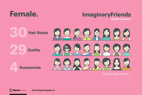 ImaginaryFriends Avatar Generator in Illustrations - product preview 3