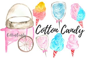 Cotton Candy Carnival Clip Art