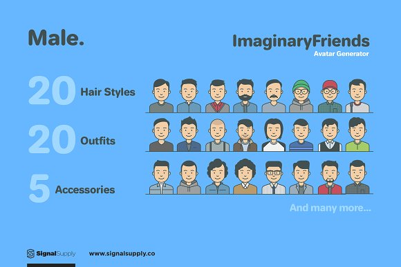 ImaginaryFriends Avatar Generator in Illustrations - product preview 2