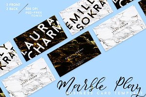 MARBLE PLAY Business Card Template