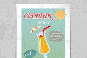 Vintage Cocktail Party Poster