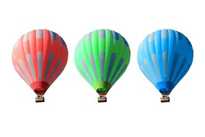 hot air balloons set