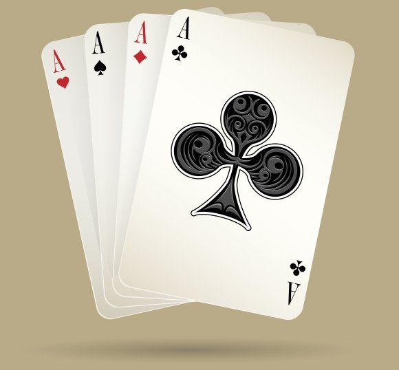 Four Aces Playing Cards Suit