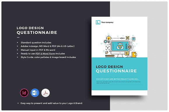 Logo Design Questionnaire Styleguide Brochure Templates Creative