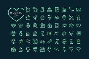 56 Love Icons