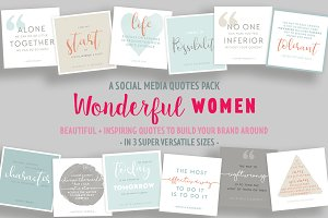Wonderful Women Social Media Quotes