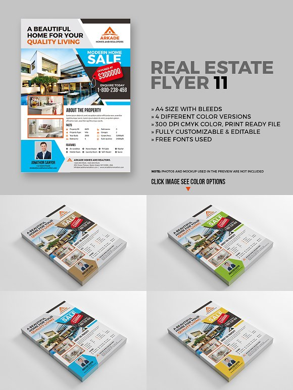 15 real estate flyers bundle flyer templates creative market