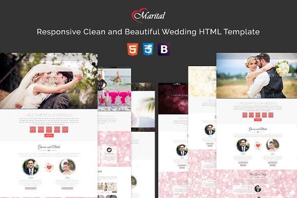 Marital Wedding HTML Template
