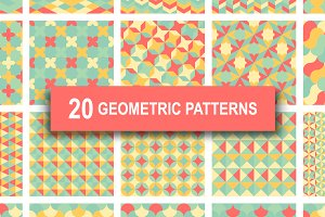 Pastel Geometric Retro Patterns