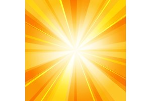 Shiny sun radiator background