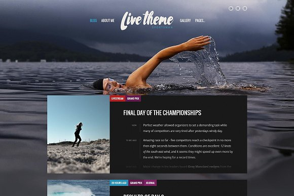 Live Blog WordPress Theme