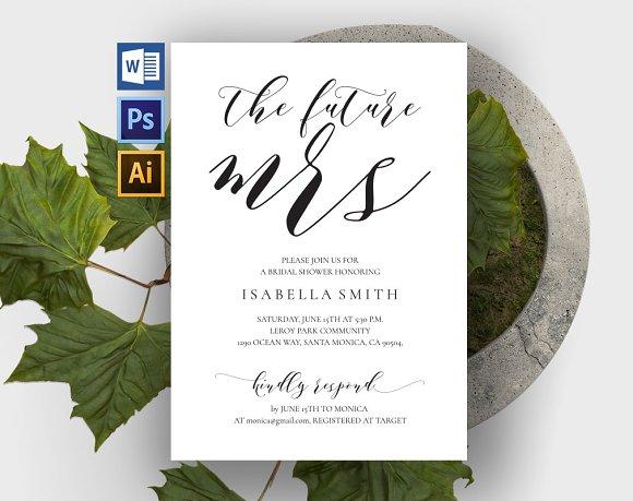 Bridal Shower Invitation Wpc308