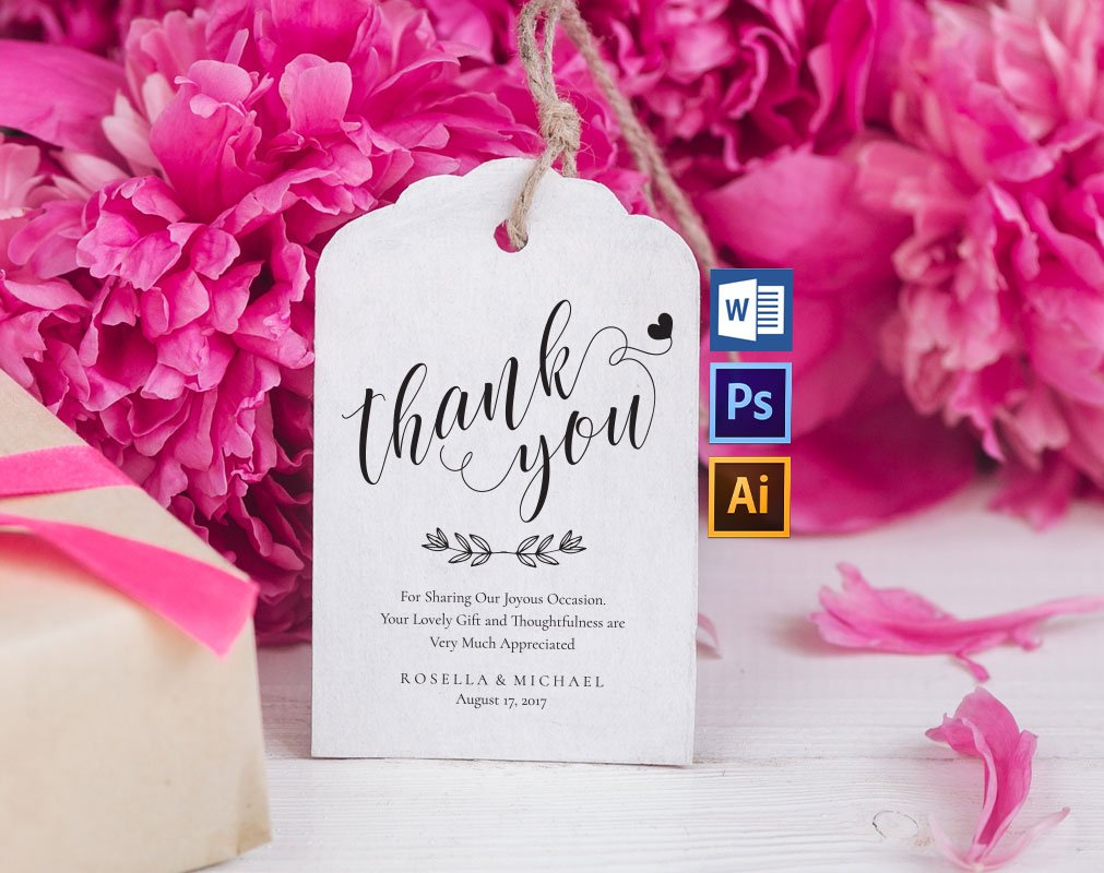 Thank You Tag Wpc311 ~ Invitation Templates ~ Creative Market