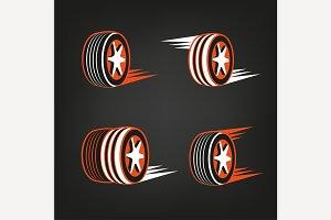 Tire Shop Logo Element