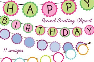 Round Bunting Vectors and Clipart