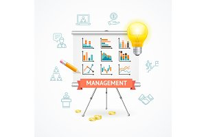 Business Management Concept. Vector