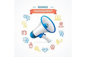 Business Management Concept. Vector