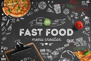 Fastfood Doodle Menu Creator