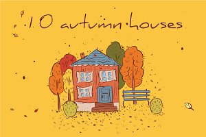 10 autumn houses
