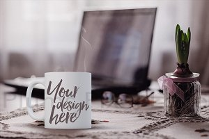 Pretty Coffee Mug Mock-up