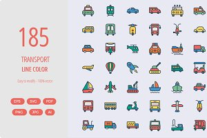 185 Transport line color icons