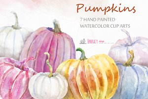 Pumpkin clipart. Fall clipart.