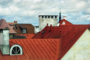 The roofs and spiers of Old Tallinn