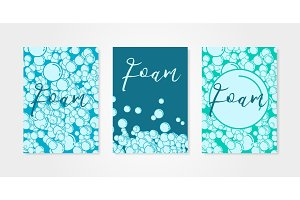 Set of backgrounds with bubbles