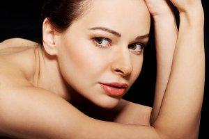 Beautiful topless woman.