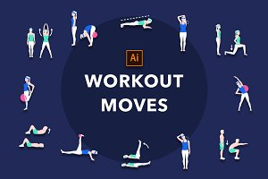 Workout Moves Vector