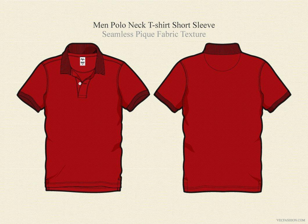Men Polo Neck Shirt Vector Template Illustrations Creative Market