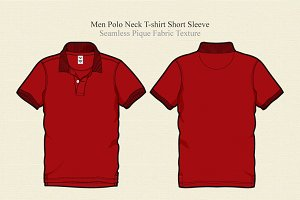 Men Polo Neck Shirt Vector Template