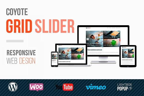 WordPress Plugins: Coyote WP - Coyote Grid Slider